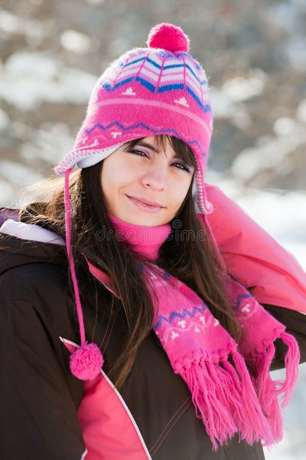 dzień dziewczyny potomstwa pogodni zima potomstwa obrazy stock
