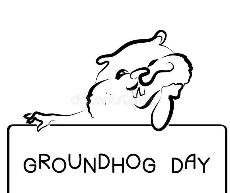dzień groundhog royalty ilustracja