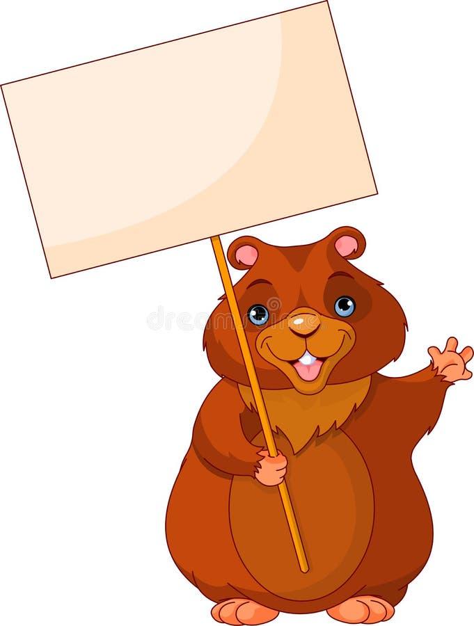 dzień groundhog znak ilustracja wektor