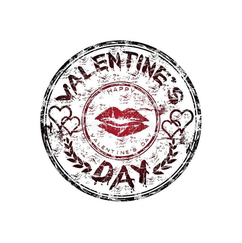 dzień gumy s stemplowy valentine ilustracji