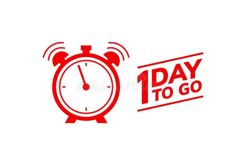 1 dzień iść ostatnia odliczanie ikona Jeden dzień iść ceny sprzedaży oferty promo transakcji zegar, 1 dzień tylko ilustracji