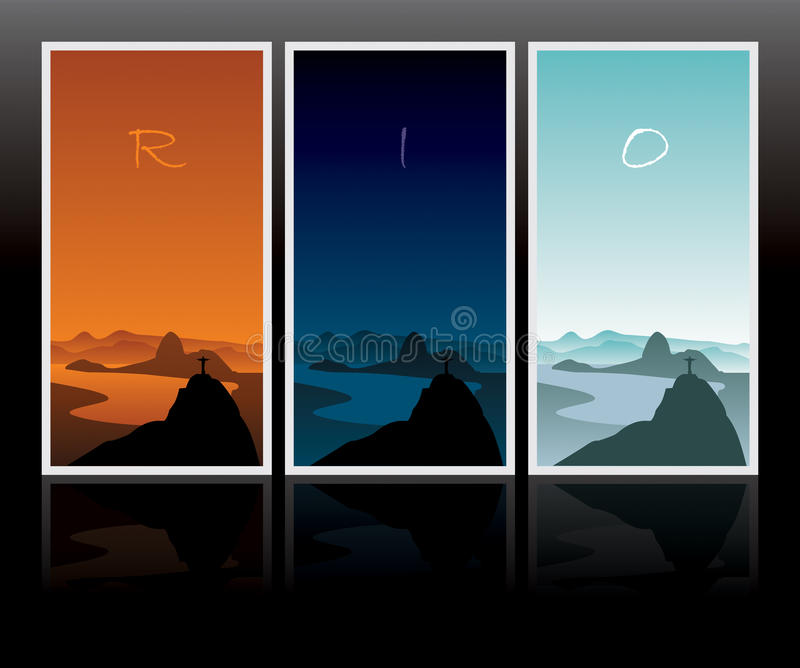 dzień jeden Rio ilustracja wektor