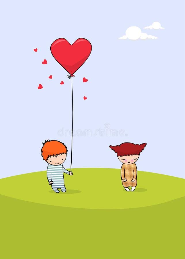 dzień karciany śliczny valentine s royalty ilustracja