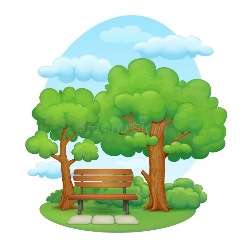 dzień krajobrazu parka lato ilustracja wektor