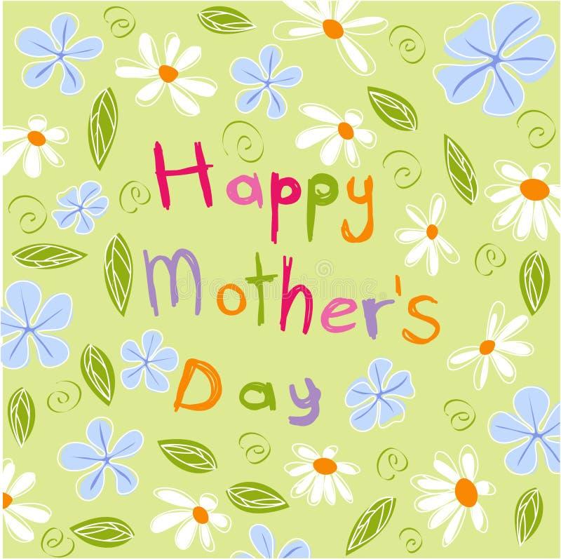 dzień kwiat daje mum syna matkom royalty ilustracja