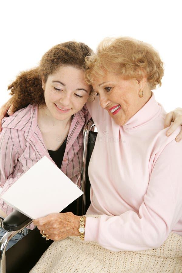 dzień matki babci jest szczęśliwa fotografia royalty free