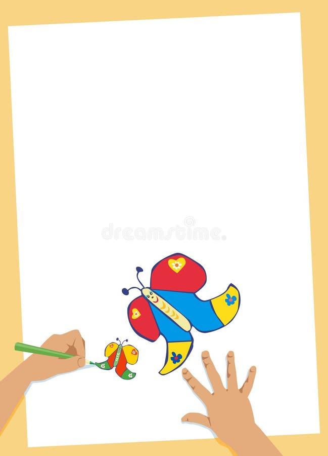 dzień matki motyla ilustracja wektor