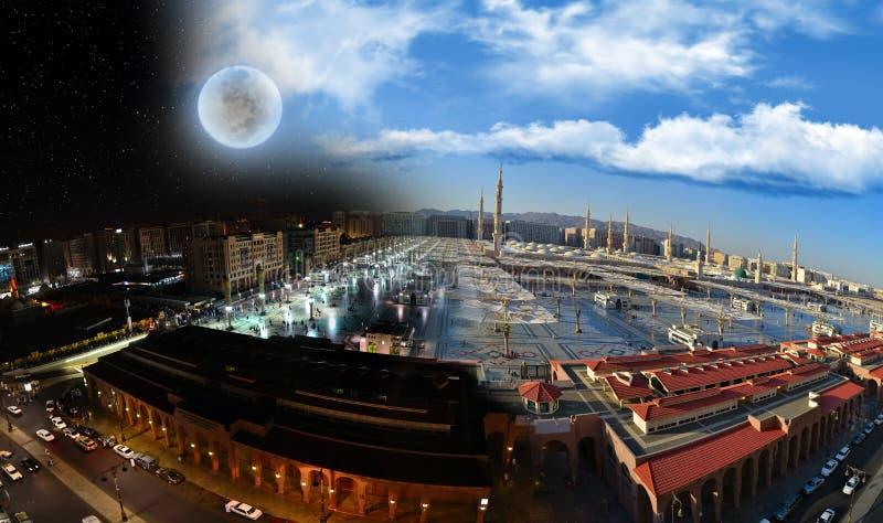 dzień medina meczetowa nabawi noc obrazy royalty free