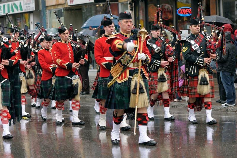 dzień Montreal parady Patrick s święty fotografia royalty free
