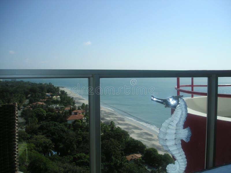 dzień na plaży Denmark fantazji fanoe festiwalu latającego latawca wysokiego konia nieba morskiego sunny, obraz royalty free