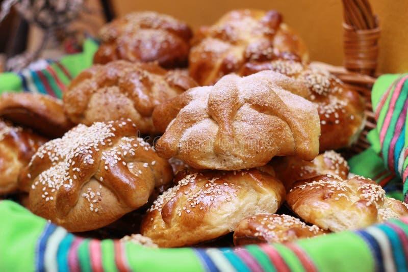 Dzień Nieżywy Hojaldra lub chleb zdjęcie stock