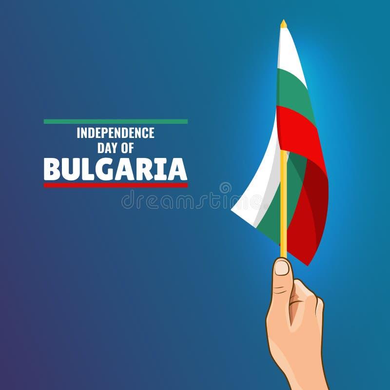 Dzień Niepodległości Bułgaria royalty ilustracja