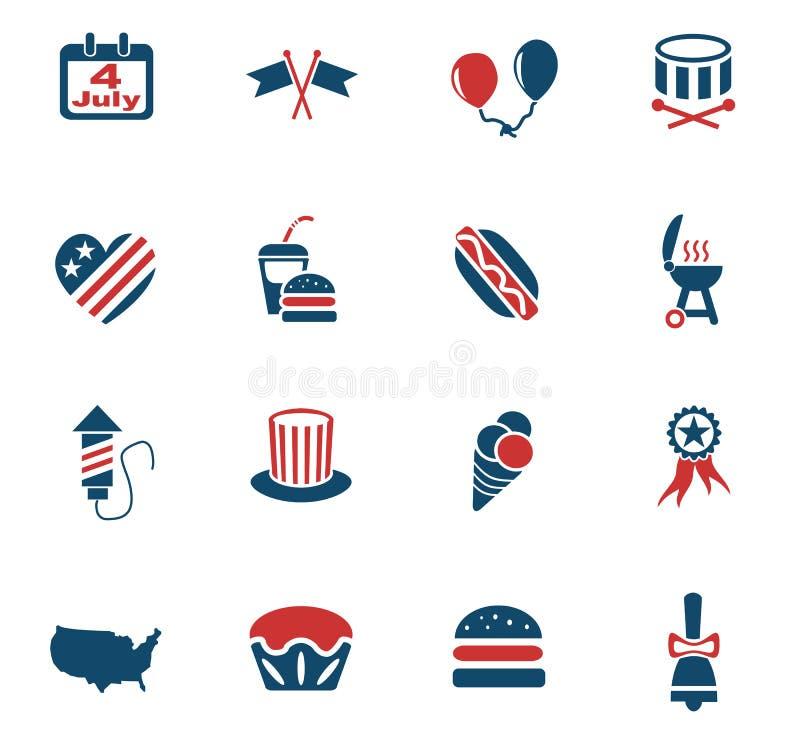 Dzień Niepodległości ikony set royalty ilustracja
