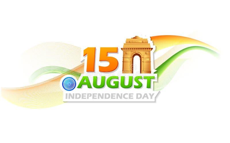 Dzień Niepodległości India ilustracja wektor