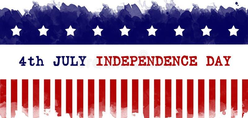 Dzień Niepodległości kartki z pozdrowieniami flagi amerykańskiej grunge tło ilustracja wektor