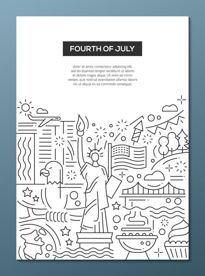Dzień Niepodległości - kreskowej projekt broszurki plakatowy szablon A4 ilustracji