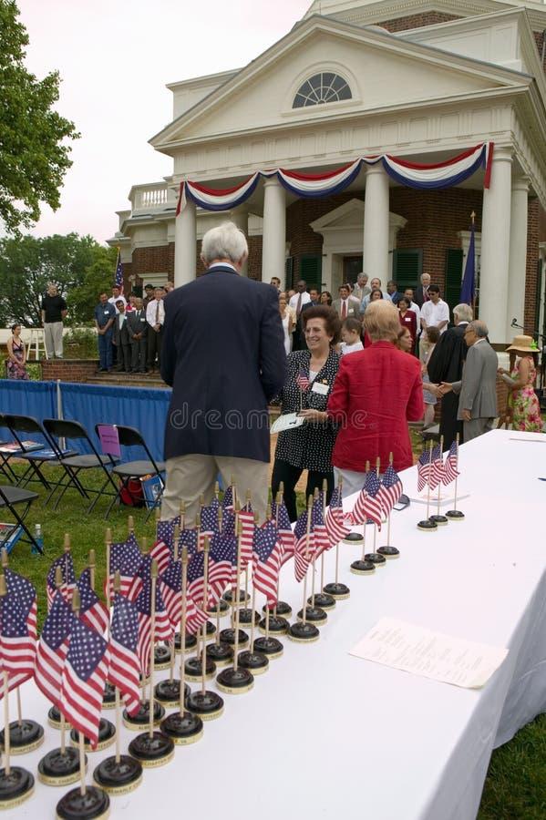 Dzień Niepodległości Naturalizationu Ceremonia obraz royalty free