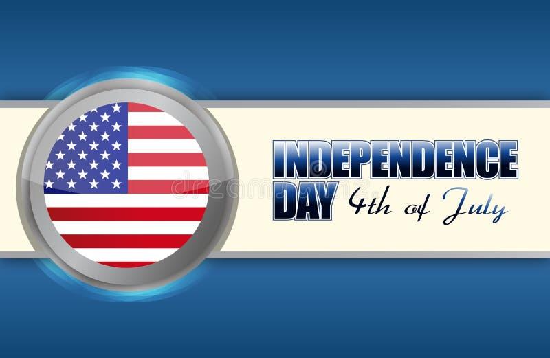 Dzień Niepodległości 4th Lipiec royalty ilustracja