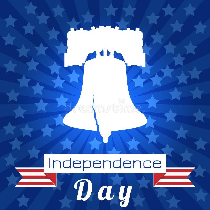 Dzień Niepodległości usa Swoboda Bell Taśma, wydarzenia imię royalty ilustracja
