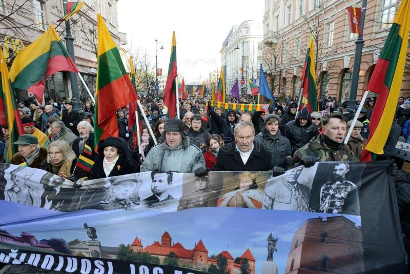 Dzień Niepodległości, Vilnius, Lithuania zdjęcia royalty free