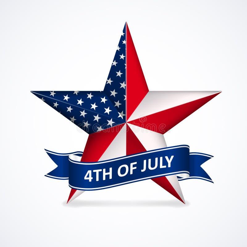 Dzień Niepodległości z gwiazdą w flaga państowowa kolorach obrazy royalty free