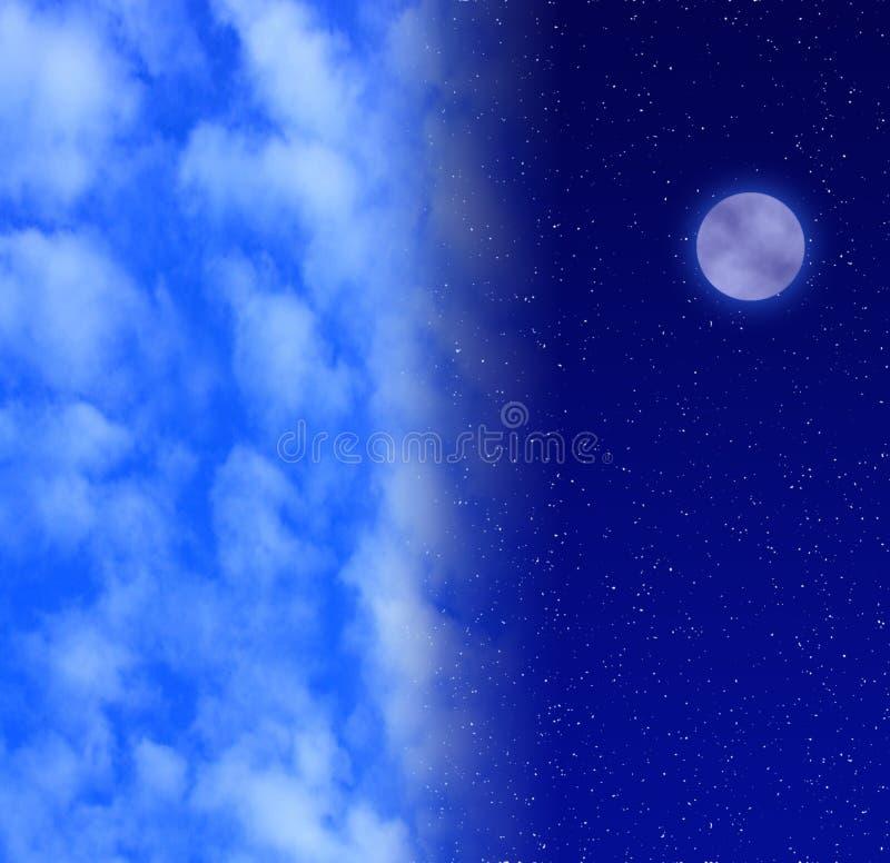 dzień, noc zdjęcie stock