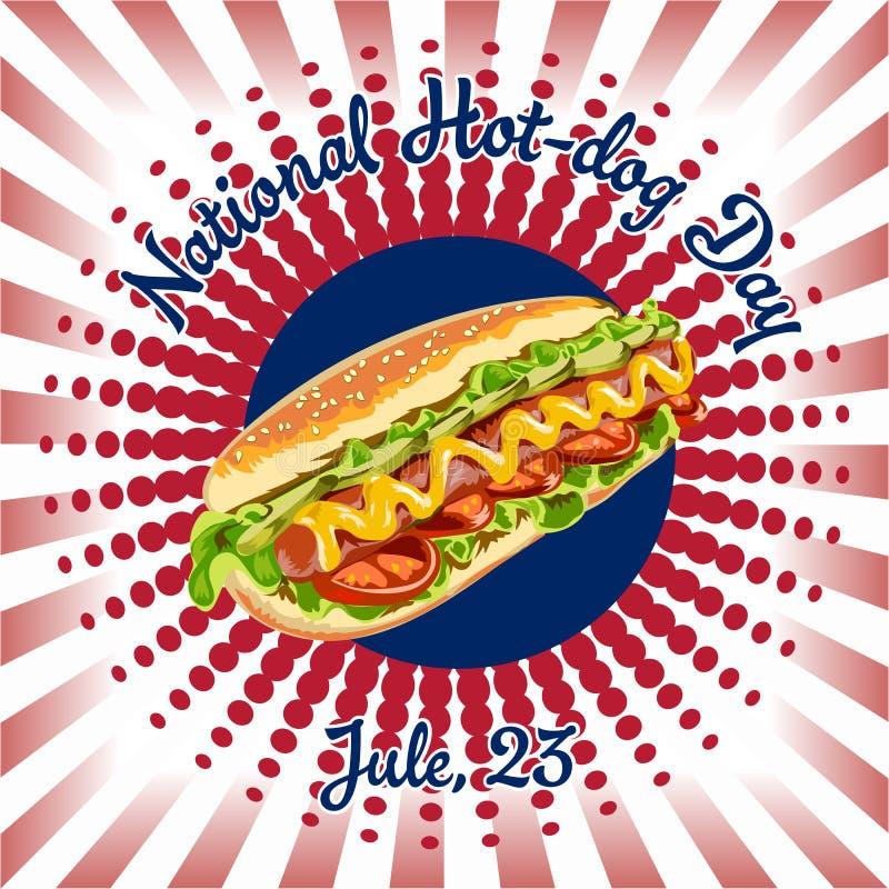 dzień obywatel psi gorący Hot Dog wektor royalty ilustracja