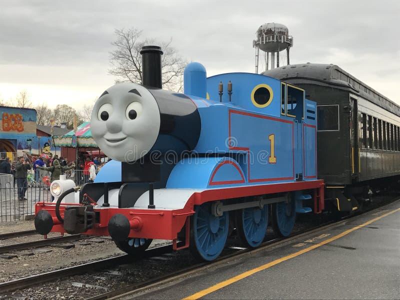 Dzień Out z Thomas przy Essex kontrpary pociągiem w Connecticut fotografia royalty free