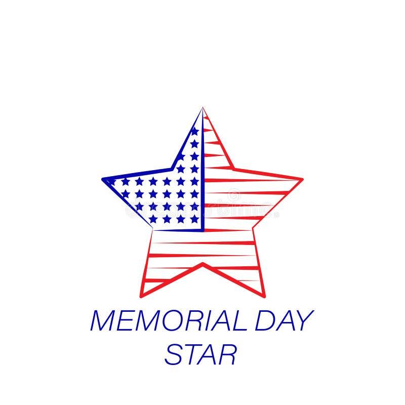 Dzień pamięci gwiazdy barwiona ikona Element dzień pamięci ilustracji ikona Znaki i symbole mogą używać dla sieci, logo, mobilny  ilustracji