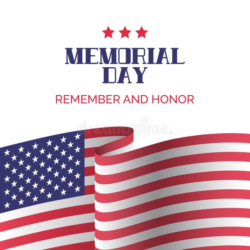 Dzień Pamięci karta Pamięta I Honoruje ilustracji