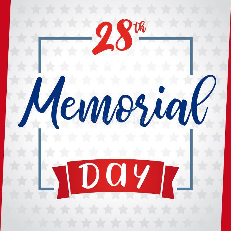 Dzień pamięci pamięta & honor, gwiazdy kartka z pozdrowieniami royalty ilustracja