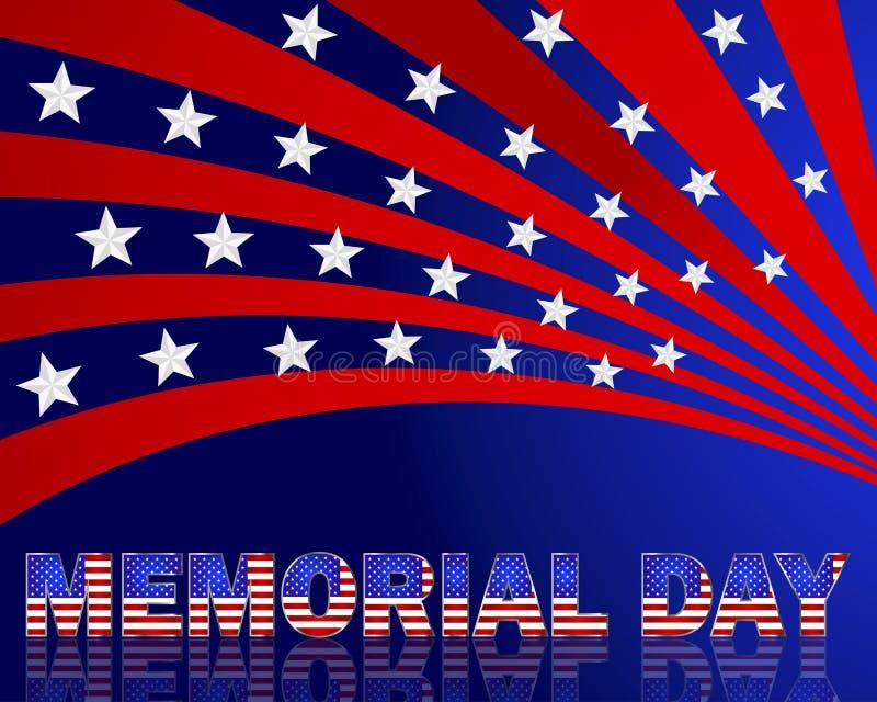 Dzień Pamięci. Piękny tekst z wzorem amerykanin fl ilustracja wektor