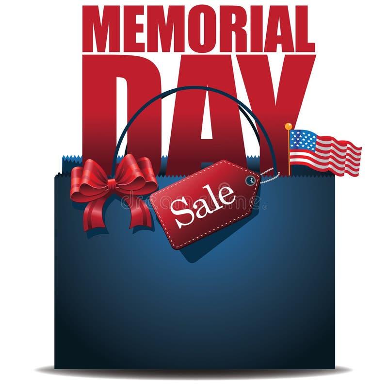 Dzień Pamięci sprzedaży torba na zakupy tło ilustracji