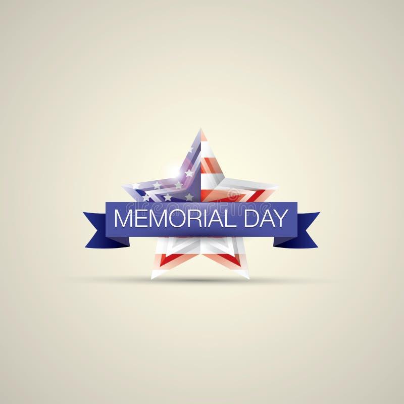 Dzień Pamięci z gwiazdą w flaga państowowa kolorach ilustracja wektor