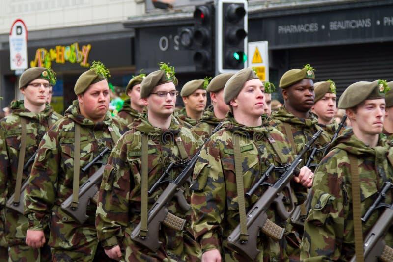dzień parady Patrick s żołnierzy st obrazy royalty free
