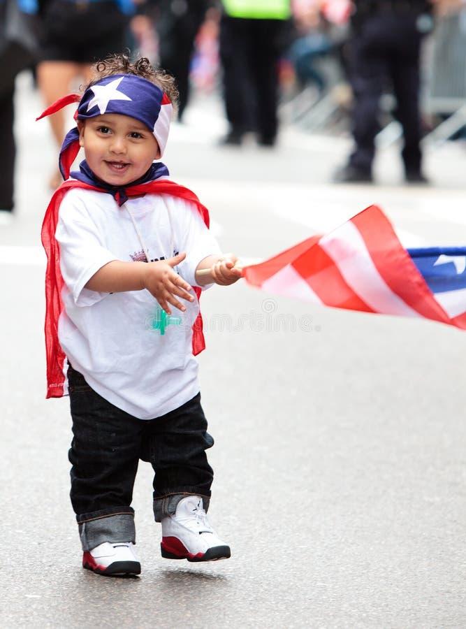 dzień parady puerto rican obraz royalty free