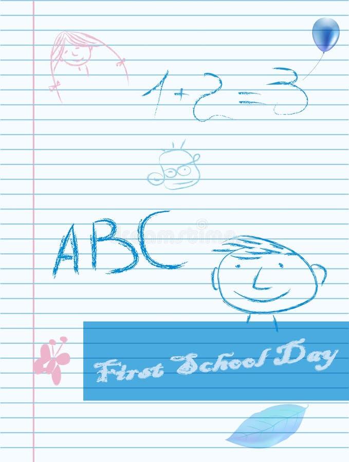 dzień pięści szkoła royalty ilustracja