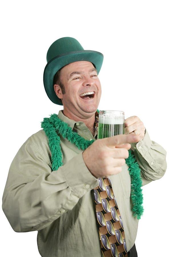 dzień pijąc śmiechu irlandczyków s st. fotografia stock