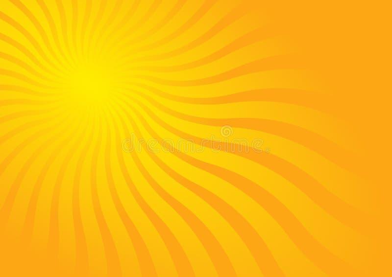 dzień pogodny gorący ilustracji