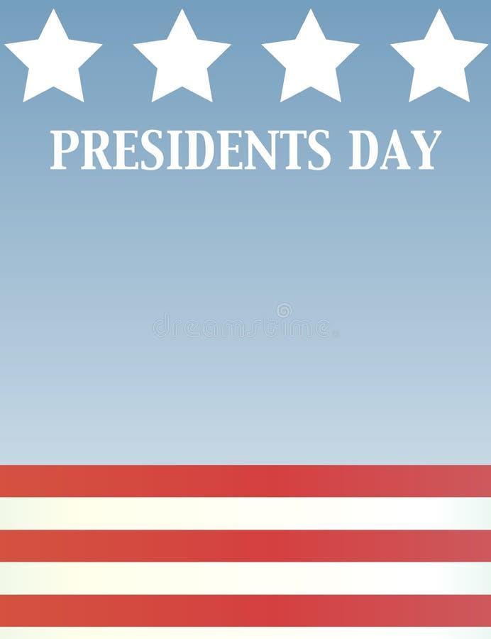 dzień prezydent ilustracja wektor