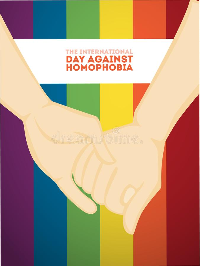 Dzień przeciw homofobiemu ilustracja wektor