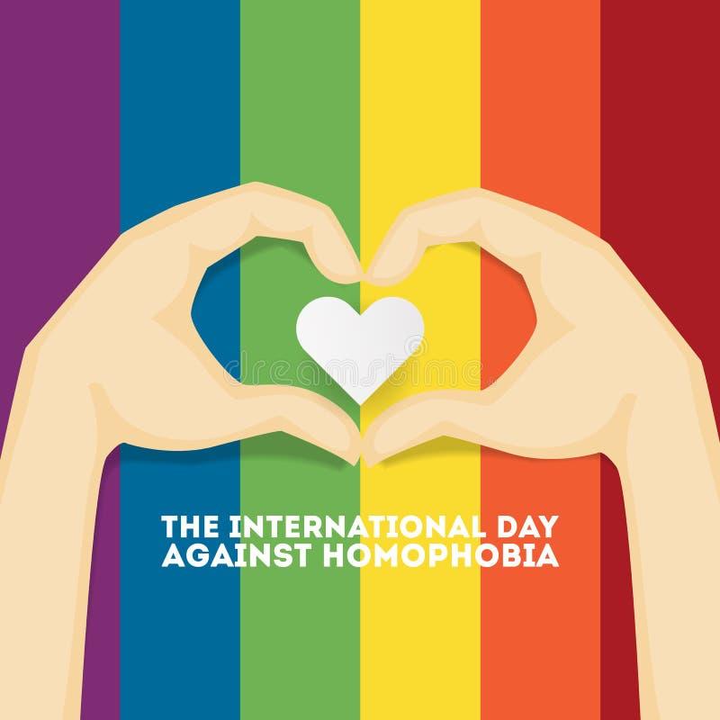 Dzień przeciw homofobiemu royalty ilustracja