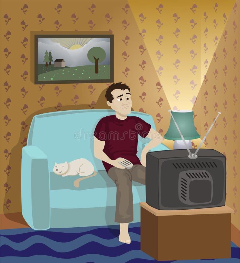 dzień samotny valentine royalty ilustracja