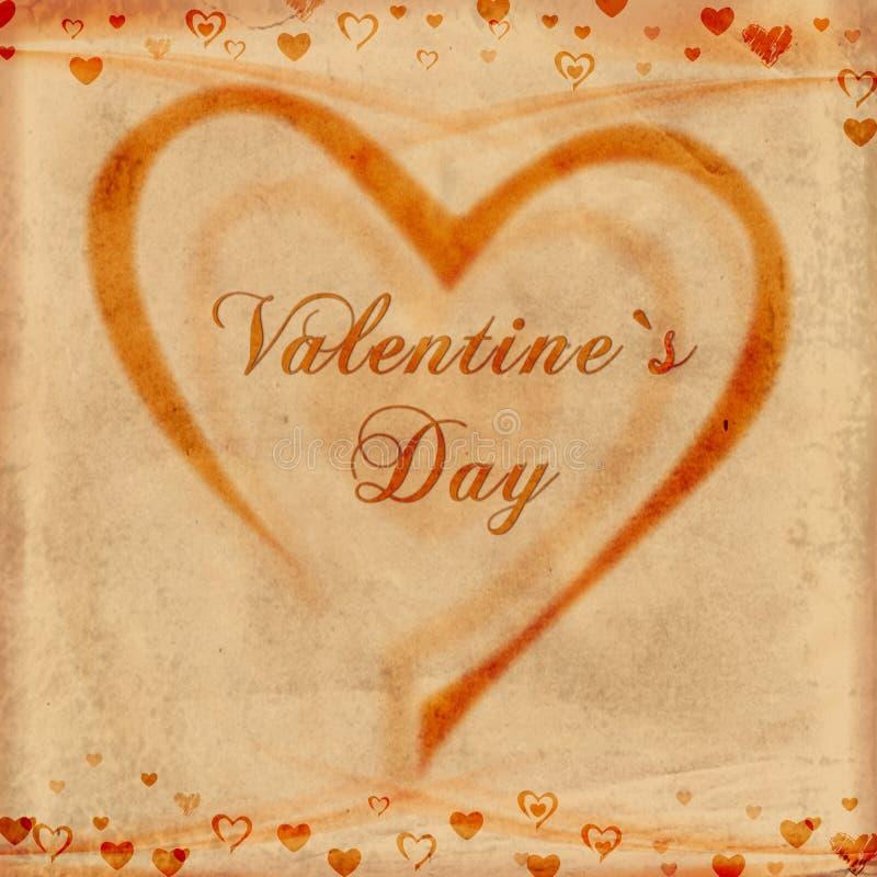 dzień stary papieru s valentine royalty ilustracja