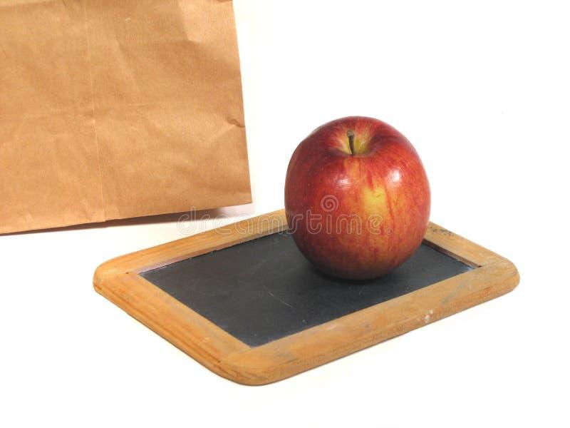 Download Dzień szkoły zdjęcie stock. Obraz złożonej z jabłko, blackboard - 143164