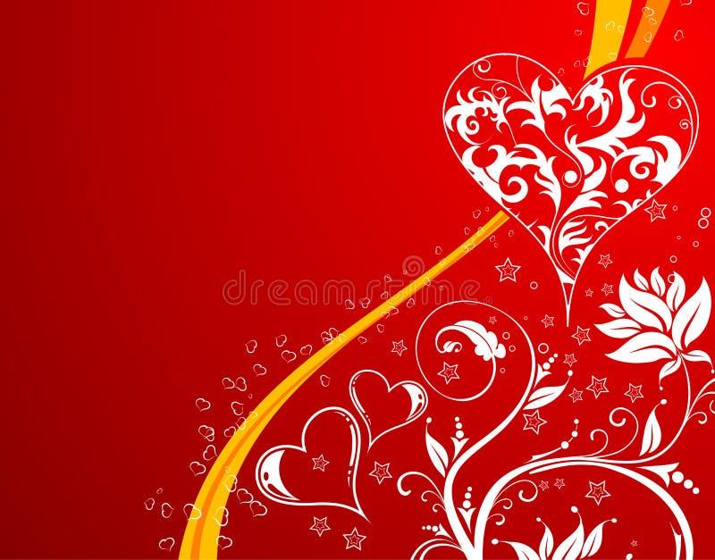 dzień tła serc valentines kwiaty ilustracja wektor