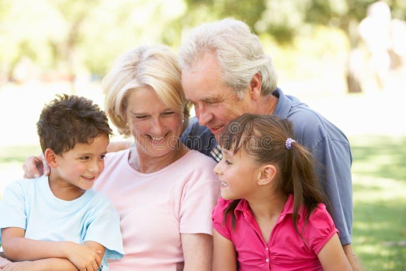 dzień target1016_0_ wnuków dziadkowie zdjęcia royalty free
