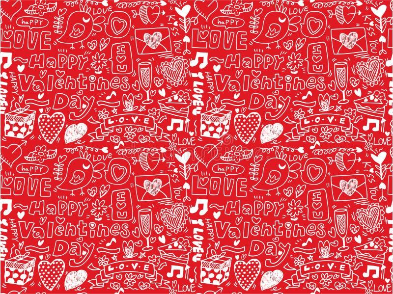 dzień valentine deseniowy bezszwowy s ilustracji