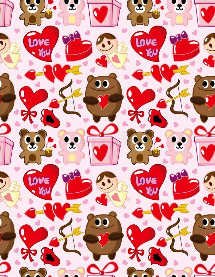 dzień valentine deseniowy bezszwowy s royalty ilustracja