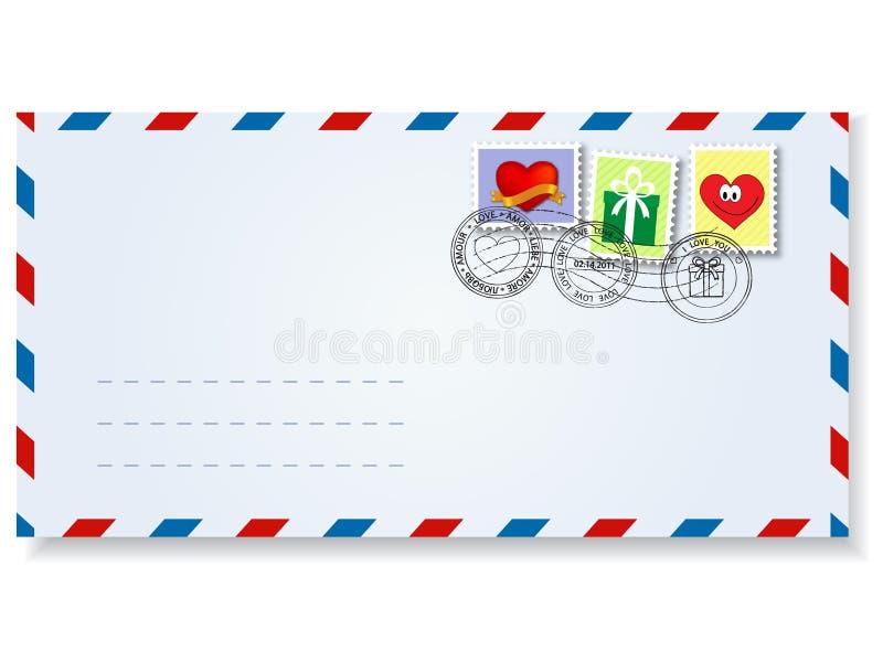 dzień valentine listowy s ilustracja wektor